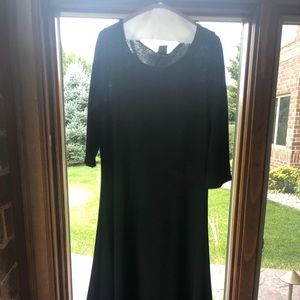 Long black Eileen Fischer dress